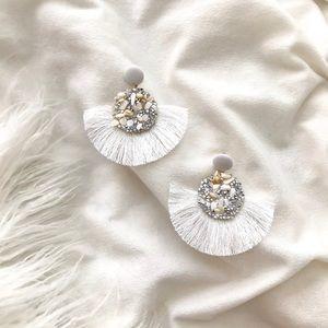 Glitter + Shell Tassel Earrings
